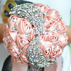 Wedding Bouquets Bride Bridesmaid Bouquet Handmake Silk Roses Romantic Wedding
