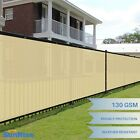 Customize 6' FT Tall Beige Privacy Screen Fence Windscreen Mesh Shade Cover