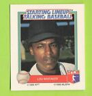 1988 Starting lineup Talking Baseball Lou Whitaker Detroit Tigers