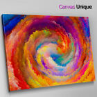 AB1502 orange swirl cloudy modern Abstract Wall Art Picture Large Canvas Print
