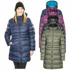 Trespass Marge Womens Down Jacket Long Parka Coat in Black Navy Olive Green