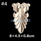 European Style Wood Carved Applique Frame Onlay Furniture Decoration Unpainted