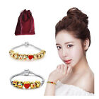 Fashion Emoji Modern Bracelet 18K Yellow Gold Plated Beads 5/10 Charms jewellery
