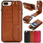 PU Leather W/strap Stand Multifunction Cards Cover Case For iPhone 6 6S 7 Plus