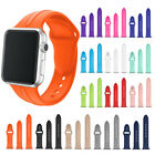 For Apple Watch Series 2 1 Colorful TPU Sports Wrist Bracelet Band Strap Clasp