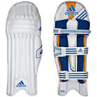 adidas Elite Mens Cricket Batting Pads Leg Guards White/Blue