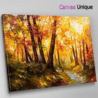 SC972 yellow autumn leaves painting Scenic Wall Art Picture Large Canvas Print