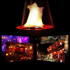 LED Stand & Hanging Fake Flame Lamp Torch Fire Pot Halloween Pub Bar Decor New