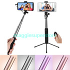 Extendable Selfie See it through Tripod Bluetooth Remote With Mirror For iPhone X 8 Plus