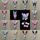 3Pcs/Set Halloween Rabbit Ears Tail Bow Tie Cosplay Party Props Kits