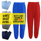 HI MENS WOMENS UNISEX PLAIN SWEATPANTS 3 POCKET CASUAL FLEECE JOGGER DRAWSTRING