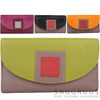Ladies / Womens Multi-Colour Soft Leather Purse / Money / Coin Holder