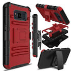 For Samsung Galaxy S8 Active Phone Case Hybrid Belt Clip Holster Camo Hard Cover