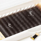 7-13mm Mix In One Tray Brown Mink Individual Eyelashes Extension Eye Lashes Box