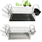 2 Tier Dish Drainer - Dish Rack With Cutlery Holder And Drip Tray - High Quality