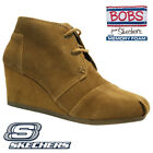 LADIES SKECHERS LEATHER MEMORY FOAM WARM BIKER WINTER ANKLE BOOTS SHOES SIZE