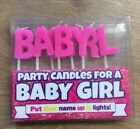 Baby Boy Baby Girl Party Candles Baby Shower Cake Topper Happy Birthday
