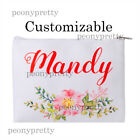 Personalized canvas makeup bag cosmetic bag wedding bridesmaid hen party gift c