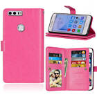 Stylish Leather TPU Flip Rubber Wallet Slot Credit Stand Pouch Skin Case Cover