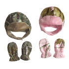 Realtree Hat and Mittens Set Infant AP Camo and AP Pink
