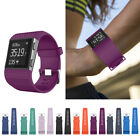 NEWEST L/S Silicone Replacement Rubber Wristband Watch Strap For Fitbit Surge