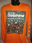 NFL Miami Dolphins Football Long Sleeve Tradition T Shirt  Mens Sizes Nwt Orange