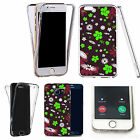 Shockproof 360° Silicone Clear case cover for many mobiles - design ref zx0600