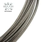"1/32"",1/16"",3/32"",1/8"" Stainless Steel 7x7 Aircraft Cable Wire Rope 25' 50'100'"