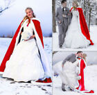 Long Bridal Cape Winter Faux Fur Train Wedding dress Cloak Women Wedding Shawl