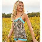 Mossy Oak Break-Up Camo Country Aqua Lace Trim Camisole ONLY S M L XXL 3XL