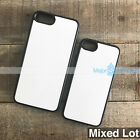 10 Rubber Sublimation Cases for iPhone 7,8  or 7 Plus,8 Plus w/ Blank inserts