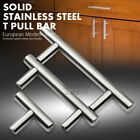 """2"""" - 18"""" Solid Stainless Steel Kitchen Cabinet Drawer Door Handles T Pull Bars"""
