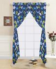 4-PC KIDS & TEENS COMPLETE WINDOW CURTAIN TREATMENTS SET WITH MATCHING TIE BACKS