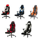 Merax Ergonomic PU Leather Office Gaming Racing Chair Computer Desk w/Footrest