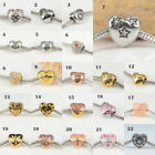 Hot Heart Shape 316L Stainless Steel Charms Spacer Beads for DIY Euro Bracelets