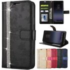 Flip Stand Diamond Cards Wallet Leather Case Cover For Samsung S7 S8 Note8 A520