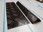 Black Painted Aluminium Chequer Plate Angle for mole-uk