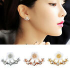 Elegant Women Girls Crystal Rhinestone Ear Stud Daisy Flower Earrings Jewelry