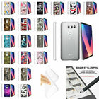 For LG V30 (2017) Durable Flexible Slim Fitted Clear TPU Case - Unique Designs