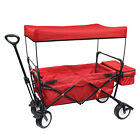 Next Generation Outdoor Folding Wagon w/ Canopy and optional wagon seat