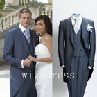 Men's 3 Pieces Suit Prom Wedding Suits Groom Tuxedos Suits Size Custom