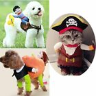 Pet Dog Cat Riding Horse Cowboy Costume Funny Suit Party Dress Cosplay Clothing