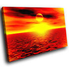 SC027 Orange Sunset Scenic Wall Art Picture Large Canvas Print