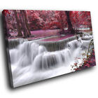 SC446 Purple Waterfall Tide Pool Scenic Wall Art Picture Large Canvas Print