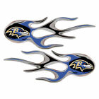 NFL Micro Flame Auto Decal (2 pack) New