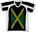 Jamaica Faded Flag Jamaican Country Pride Born From JAM Men's V-Neck Sport Tee