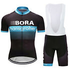 New Men Cycling Jersey Bib Shorts Suits Racing Sports Clothing Tops Short Sleeve