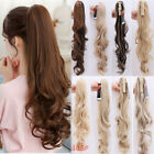 "18-26"" Jaw Curly Ponytail Hairpiece Hair Extensions Pony Tail Top Quality BROWN"