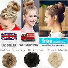 Real Natural Curly Messy Bun Hair Piece Scrunchie New Fake Hair Extension Blonde