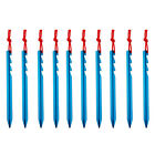 New Aluminum Alloy 10Pcs 18cm Outdoor Camping Trip Tent Peg Ground Nail Stakes